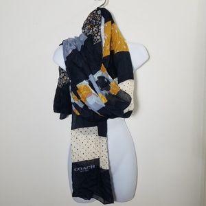 Coach oversized scarf shawl